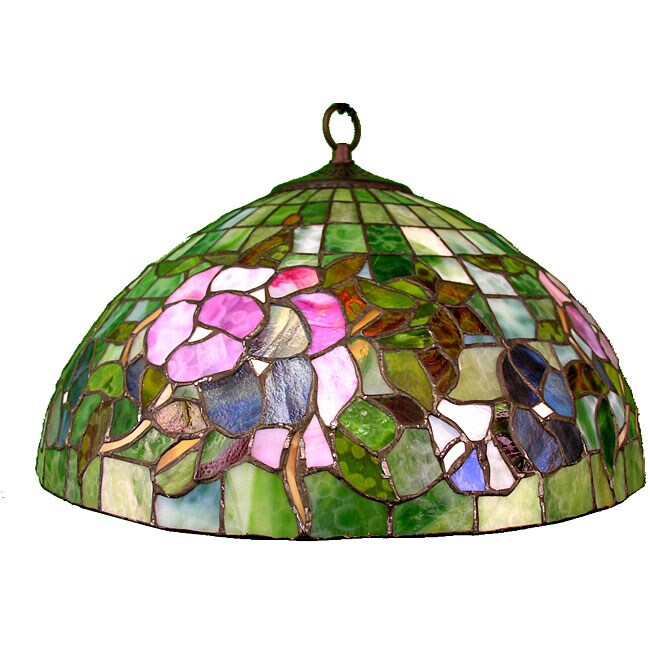 Tiffany-style Poppy Hanging Lamp