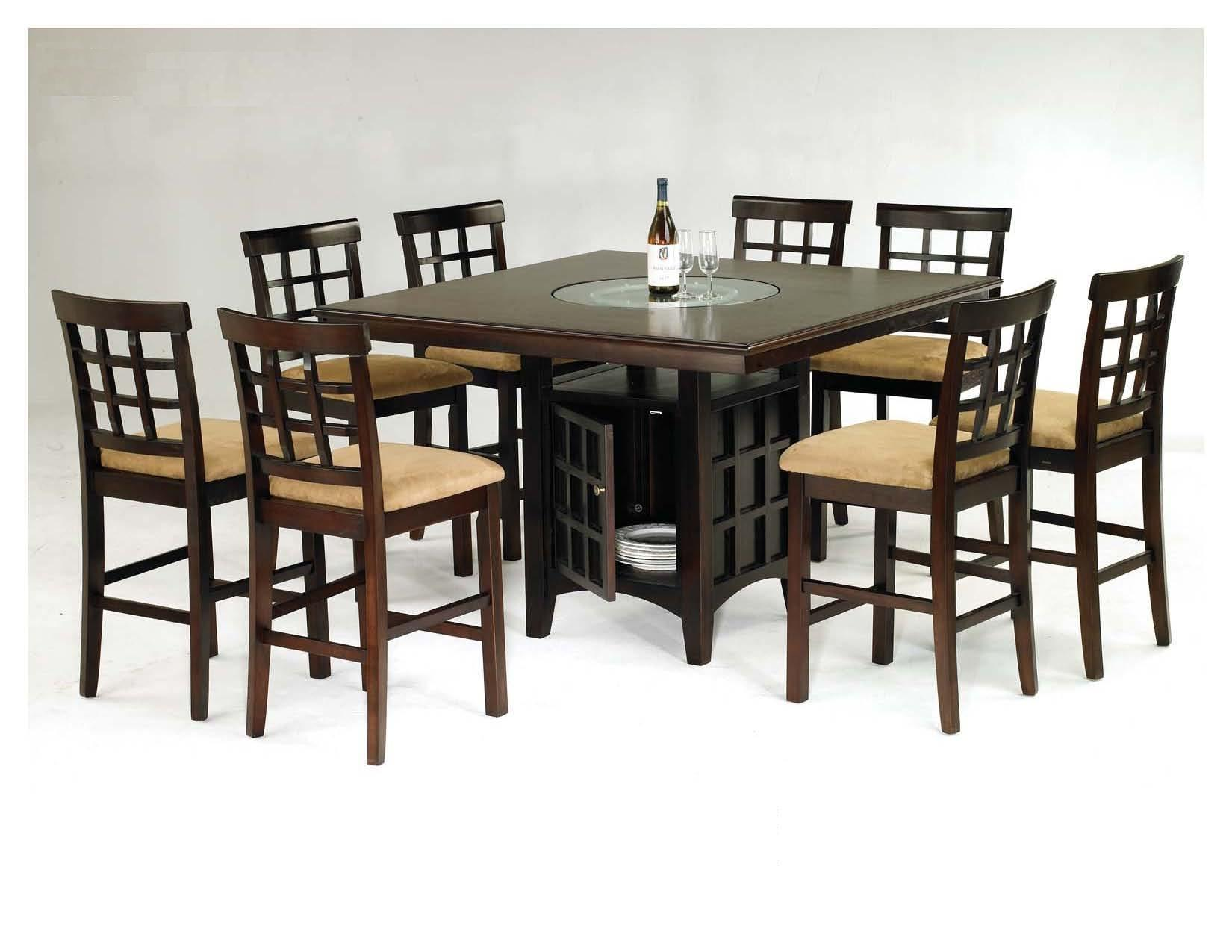 mission 7-piece counter-height dining set with cappuccino finish