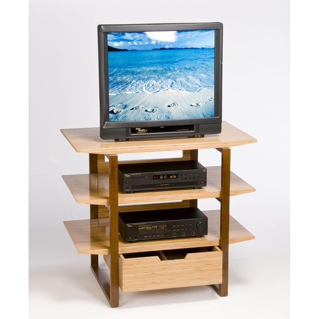 Breeze Tall AV Wood Leg Entertainment Unit
