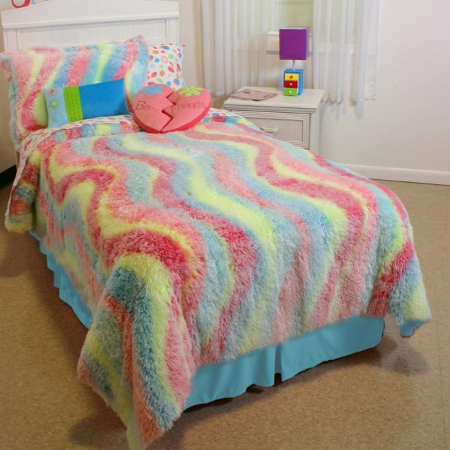 Claire's Wave Fuzzy 4-piece Comforter Set