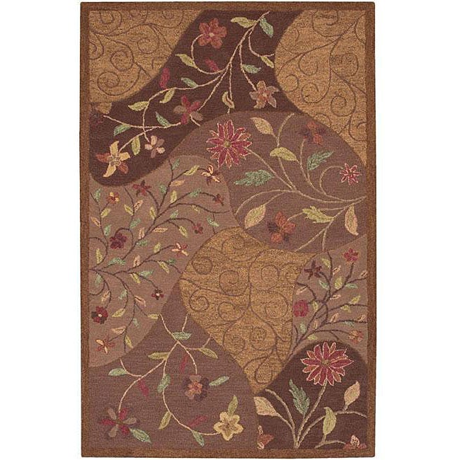 Shop Hand Tufted Confetti Brown Wool Rug 5 X 8 Free