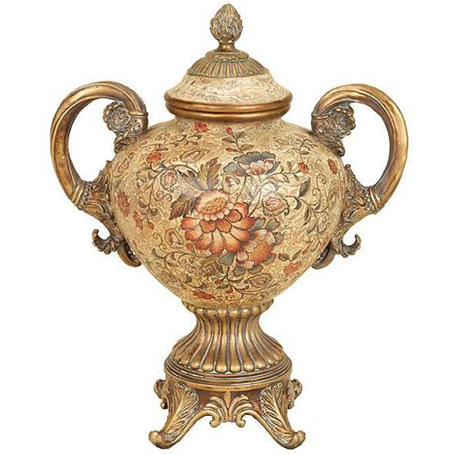 Majestic Collection Floral Design Porcelain Vase