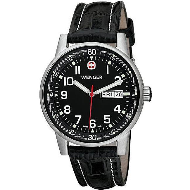 Wenger Men's Swiss Military Commando Day-Date XL Black Watch - Thumbnail 0