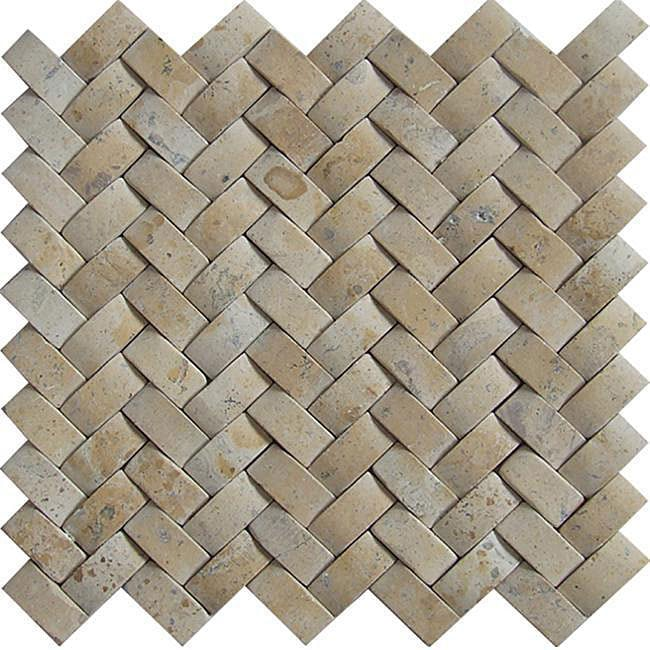 Baden Bath Travertine Basketweave Mosaic Tile Box Of 5 Sq