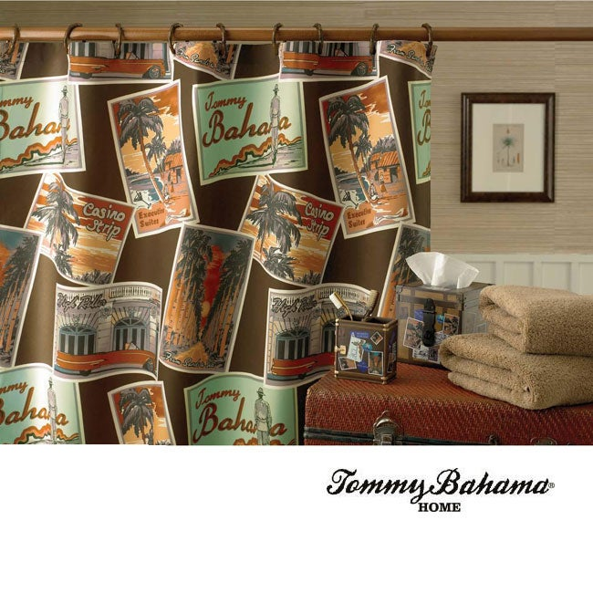 Tommy Bahama Postcards Shower Curtain - 12361119 - Overstock.com ...