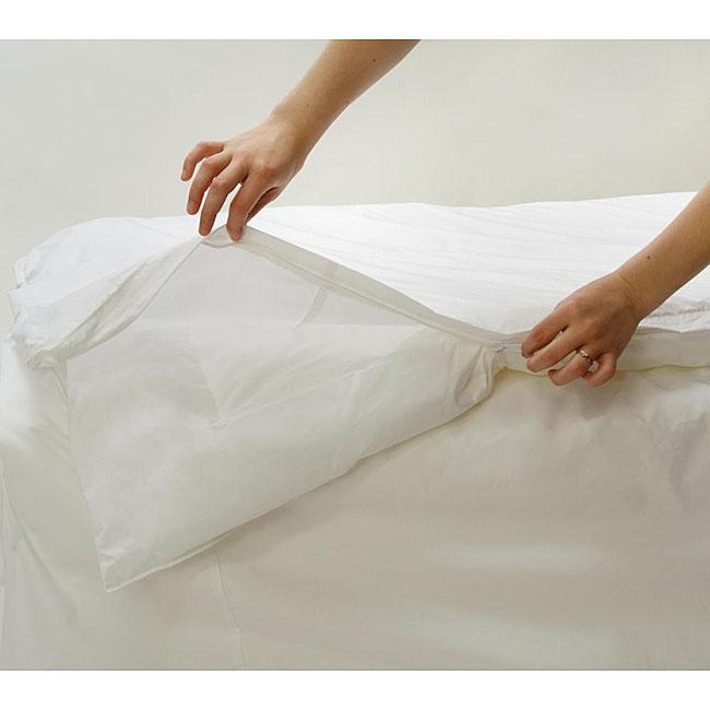 Allersoft Cotton Jumbo King-size Comforter Encasement