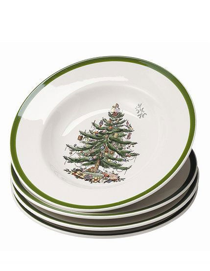 Spode 'Christmas Tree' Soup Plates (Set of 4)