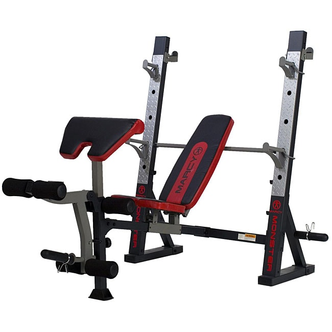 Marcy Charcoal Olympic Weight Bench - Free Shipping Today - Overstock.com - 12363606