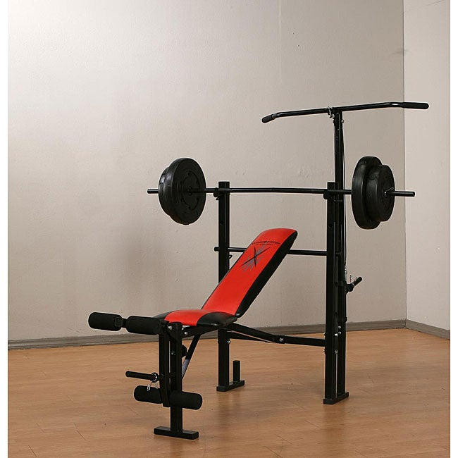 Marcy Weight Bench With 80 Pound Vinyl Weight Set Free Shipping Today 12363610