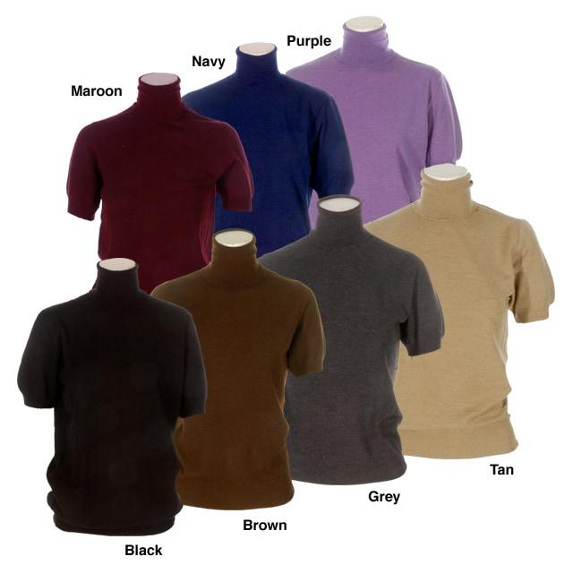 Dolce gabbana men 39 s short sleeve turtleneck shirt free for Mens mock turtleneck shirts sale
