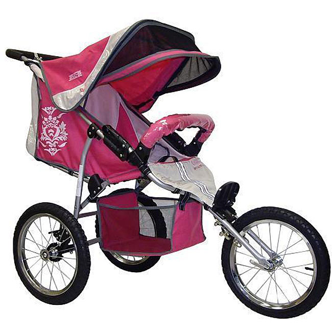 BeBeLove USA Evo Special Edition Single Jogging Stroller in Pink ...