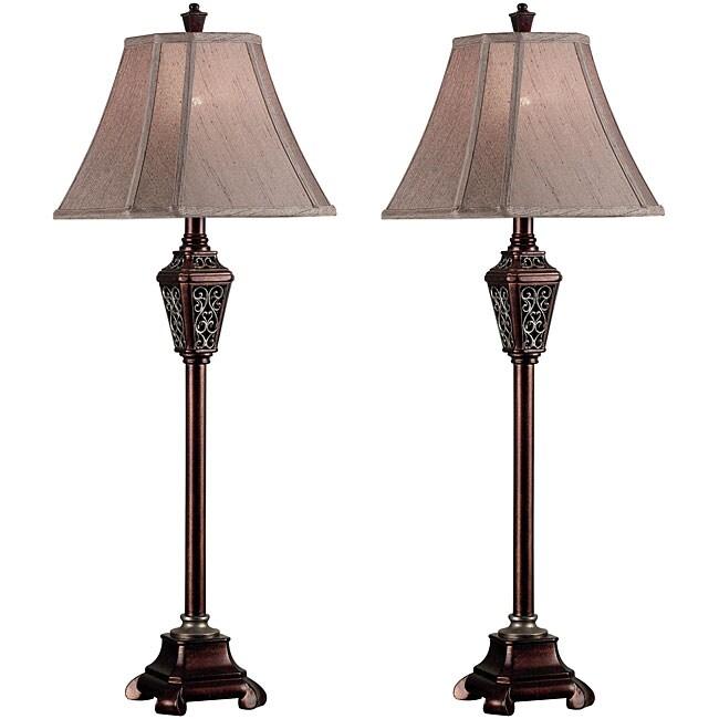 Garden Gate Buffet Lamps (Set of 2)