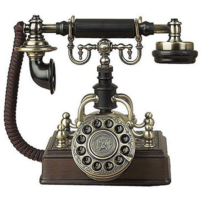 Antique Replica Brass Plated Telephone