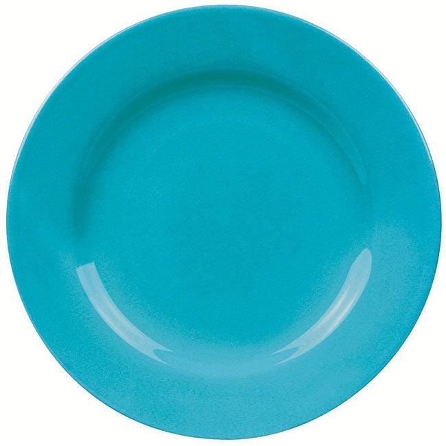 Waechtersbach 4-piece Turquoise Rimmed Dinner Plate Set