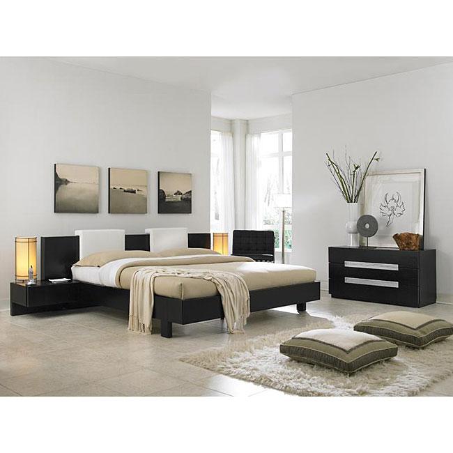 Monroe 4 Piece Queen Size Platform Bed Set