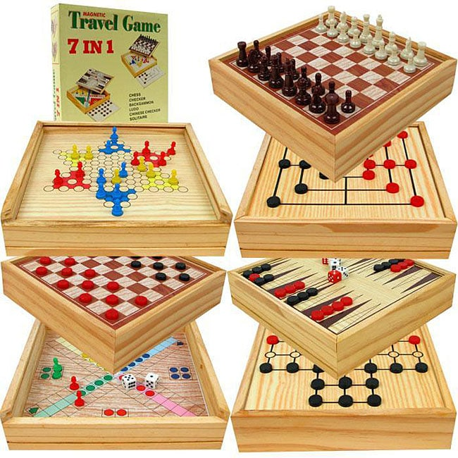 Magnetic 7-in-1 Travel Game (Set of 2)