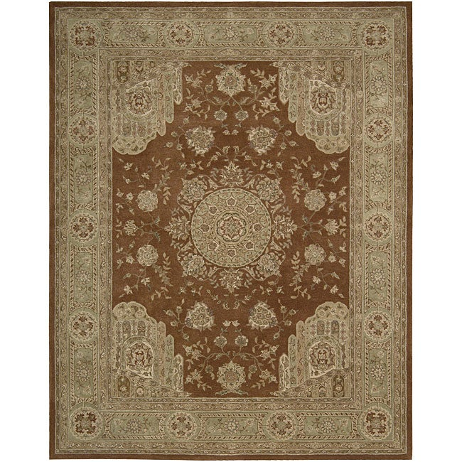 Nourison Hand-tufted Heritage Hall Rust Wool Rug (12' x 15') - Thumbnail 0