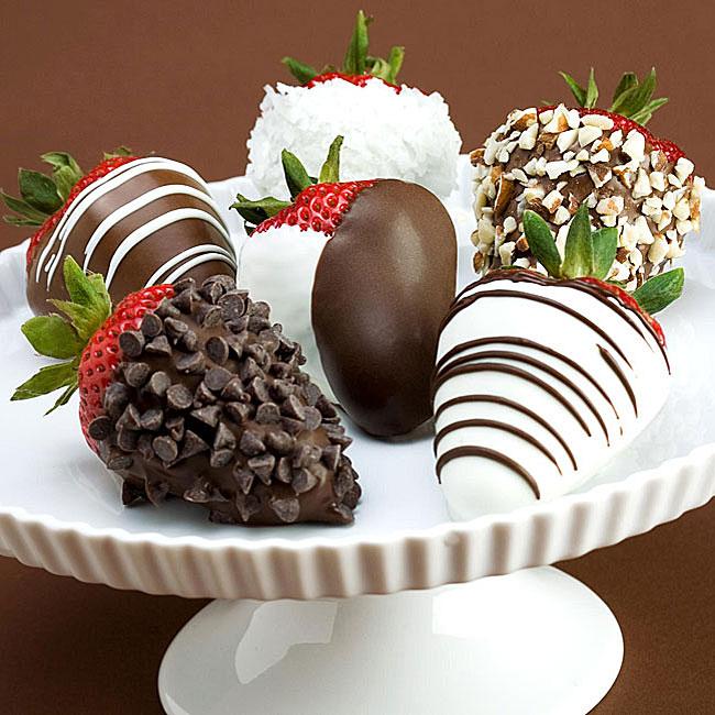 (Valentine's Day Pre-order) Half-dozen Hand-dipped Chocolate Strawberries