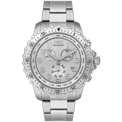 Invicta II Men's Stainless Steel Silver Dial Chronograph Watch