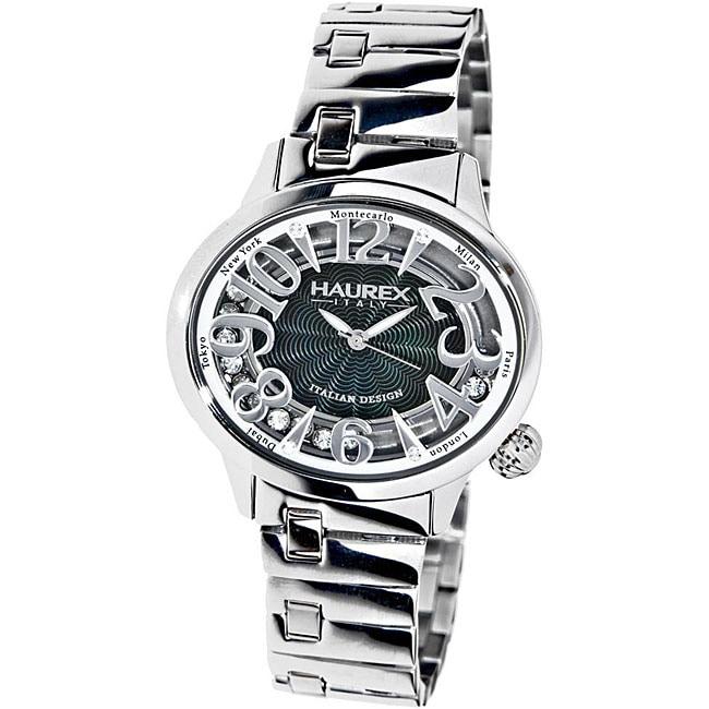 Haurex Italy Women's Preziosa Floating Crystal Watch