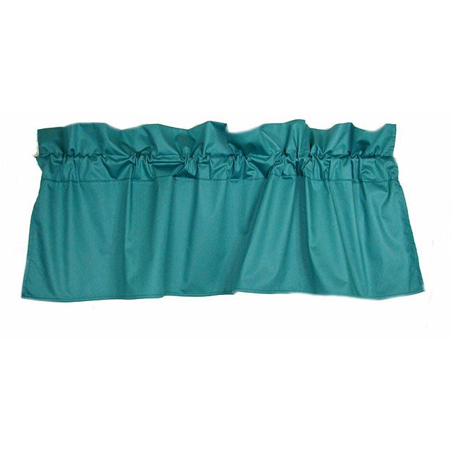 Set of 2 glosheen teal valances 54 in x 18 in free shipping on