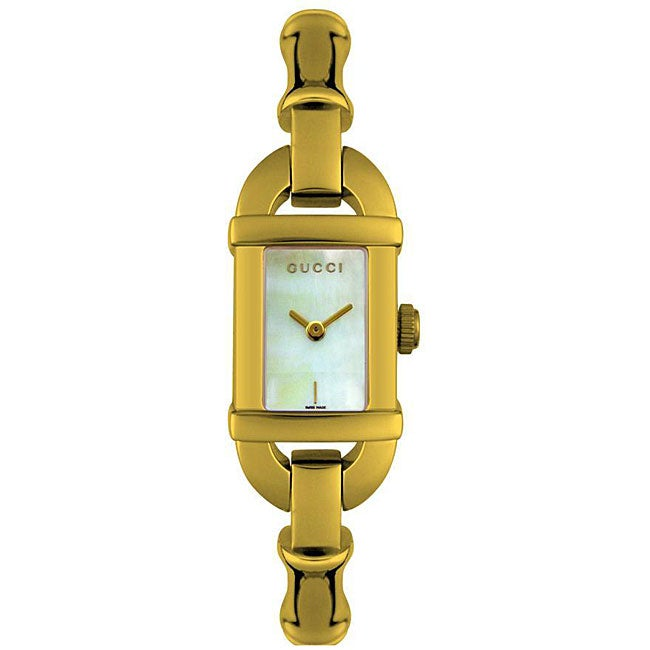 42e9edc229a Shop Gucci Women s 6800L Yellow Goldplated Watch - Free Shipping Today -  Overstock - 4415068