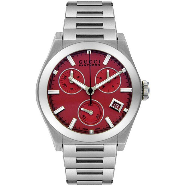 282e871e1d5 Shop Gucci Men s Pantheon Mid-size Chronograph Watch - Free Shipping Today  - Overstock - 4415062
