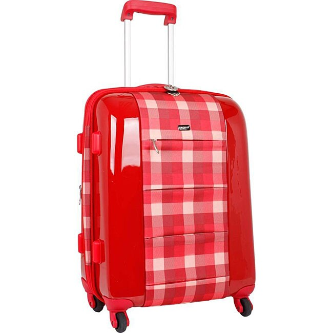 J World Red Plaid 'Laurel' 21-inch Expandable Hardside Carry-on Upright