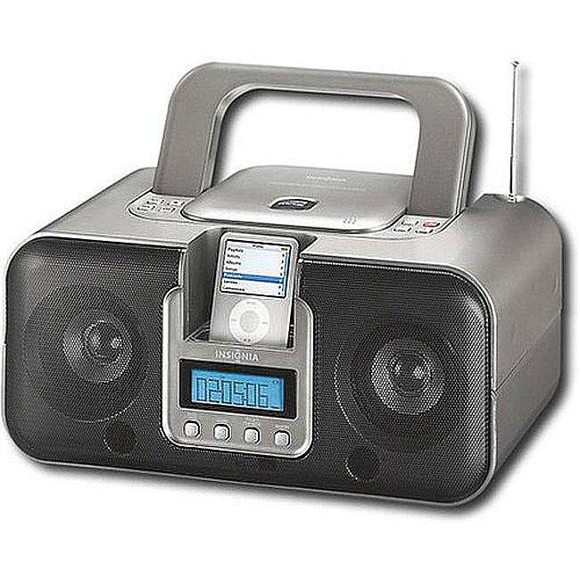 68c0bb5f119 Thumbnail Insignia NS-B3112 Radio/ CD/ MP3 Boombox with iPod Dock  (Refurbished ...
