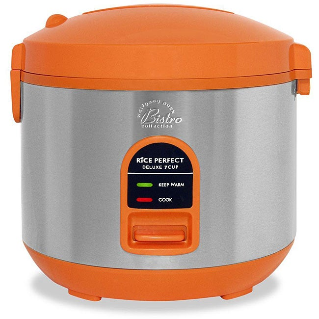 Wolfgang Puck Rice Cooker ~ Wolfgang puck cup orange stainless steel steamer rice