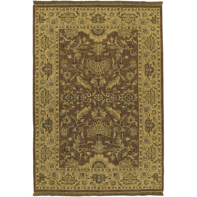 Hand-knotted Sangli New Zealand Wool Area Rug (6' x 9') - 6' x 9'