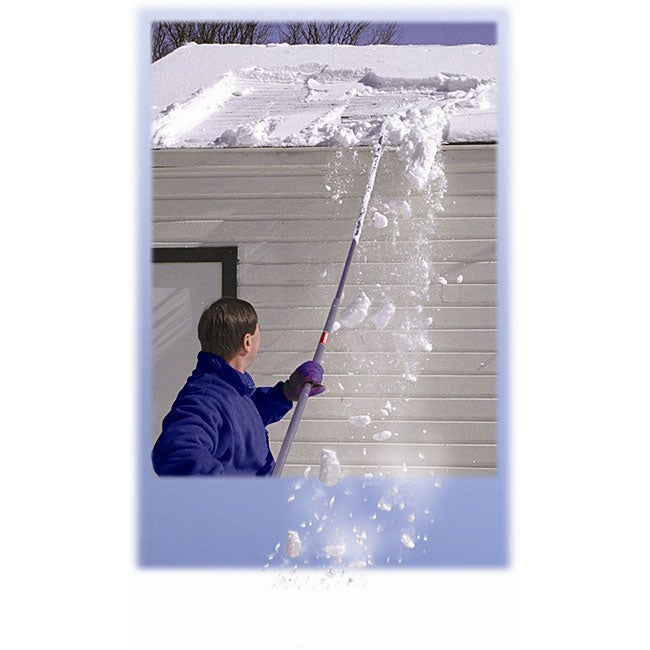 Midwest 16 Foot Long Snow Roof Rake Free Shipping Today
