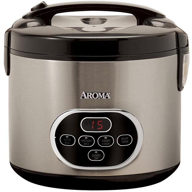 shop aroma 20 cup yield digital rice cooker free shipping today overstock 4422060. Black Bedroom Furniture Sets. Home Design Ideas