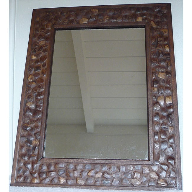 Large Coconut Shell Wall Mirror Thailand Free Shipping