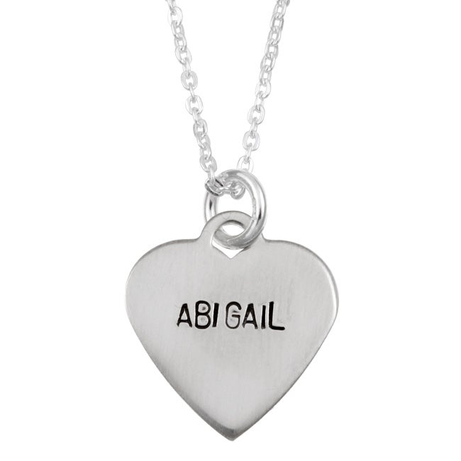 Sterling Essentials Sterling Silver 'Abigail' Name Necklace