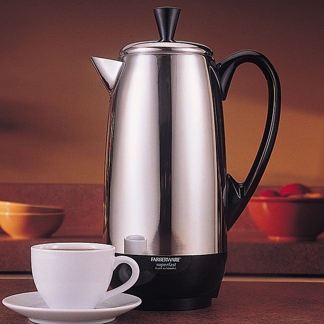 4662725a939 Shop Farberware FCP412 Stainless Steel 12-cup Percolator - Free Shipping  Today - Overstock - 4424130