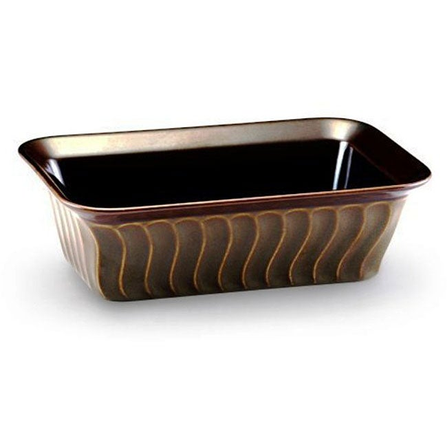 Paula Deen 9x5 Inch Stoneware Loaf Pan Free Shipping On