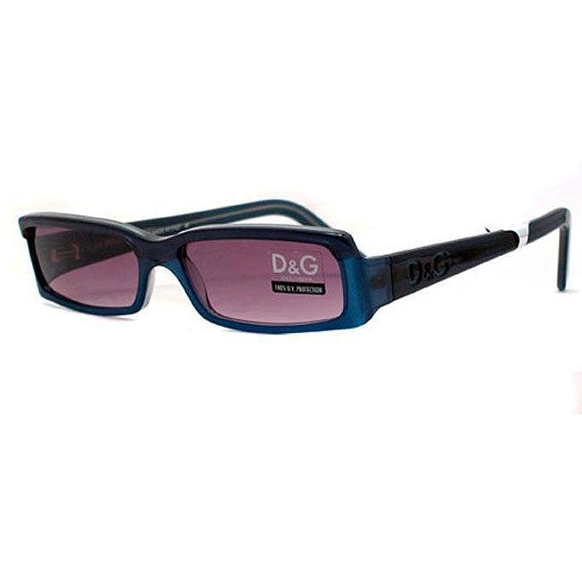 Dolce & Gabbana '2072/S' Women's Blue/ Purple Designer Sunglasses