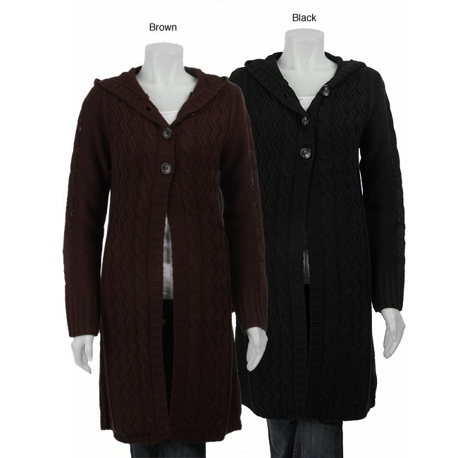 Carducci Women's Hooded Sweater Coat - Free Shipping On Orders ...