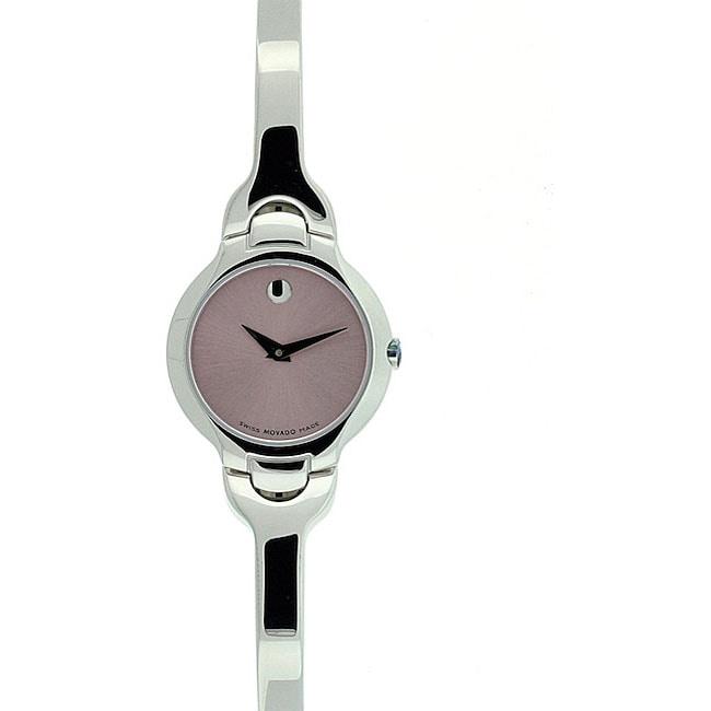 Movado Women's Kara Pink Metallic Dial Stainless Steel Watch