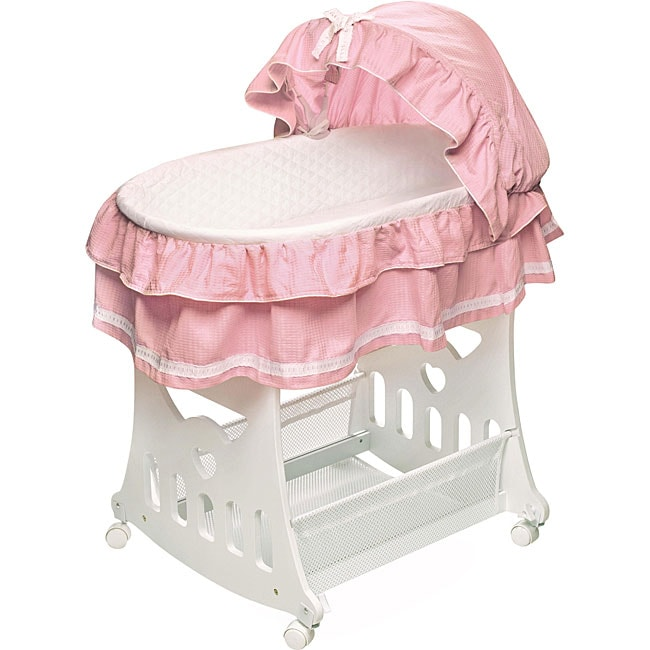 Badger Basket Portable 2-in-1 Bassinet and Cradle with To...