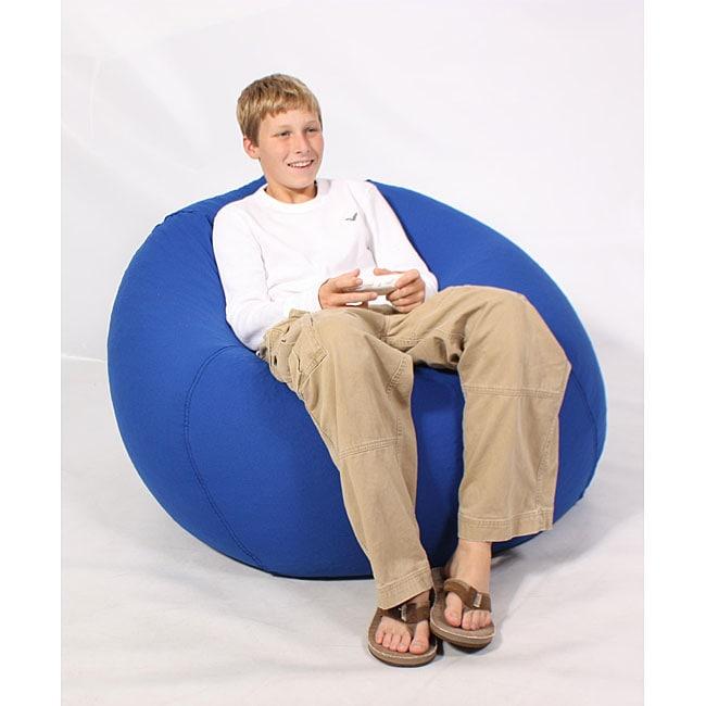 Shop Mia Jumbo Bean Bag Lounge Chair Royal Blue - Free Shipping Today -  Overstock.com - 4426998 5392bea9fe415