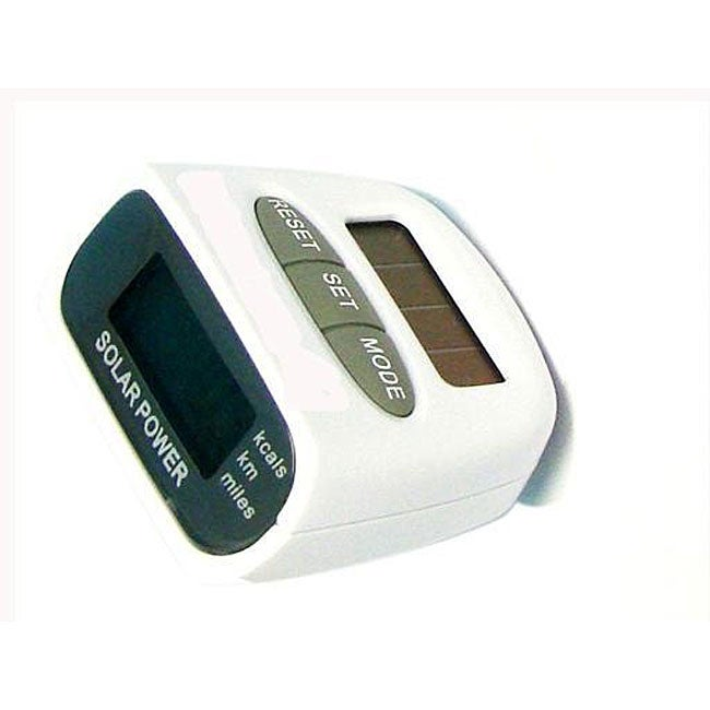 Solar Powered Multifunction Pedometer Step Calorie Counter