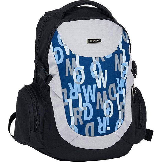 J World 'Jacque' Signature Navy Bio-health Panel Backpack