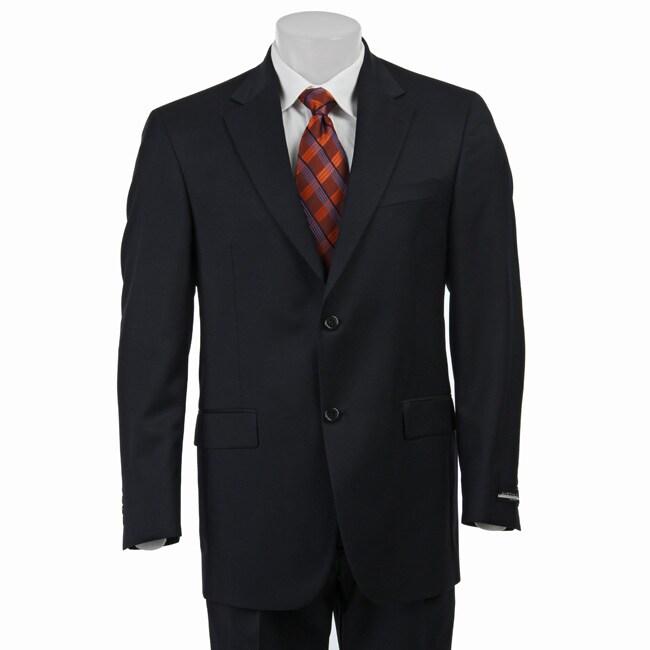 Austin Reed Men's Solid Navy Suit