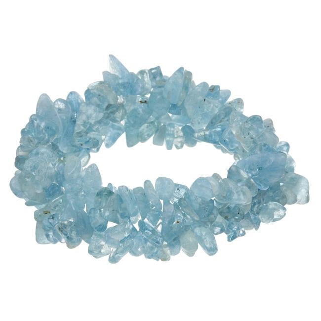 Kabella Aquamarine Chip Stretch Bracelet