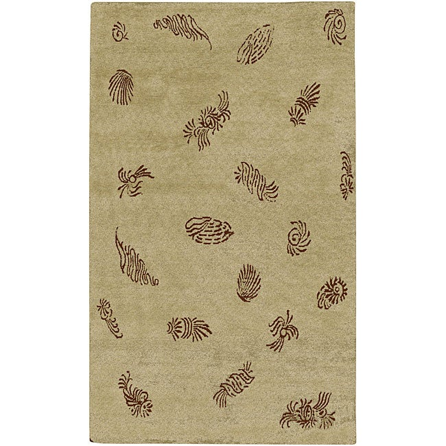 Hand-knotted Legacy Beige New Zealand Wool Area Rug (5' x 8') - 5' x 8'