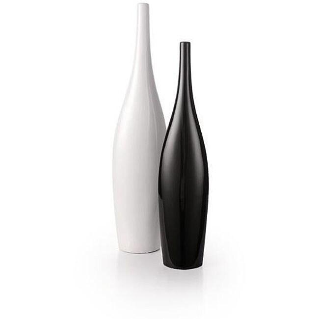 Thumbnail Goa Gooseneck Black White Porcelain Vases Set Of 2