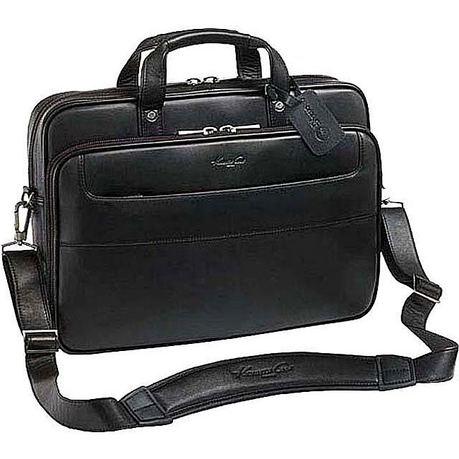 Shop Kenneth Cole Top-Zip Leather 17 Inch Laptop Case - Free ... f8d8fceb7fd88