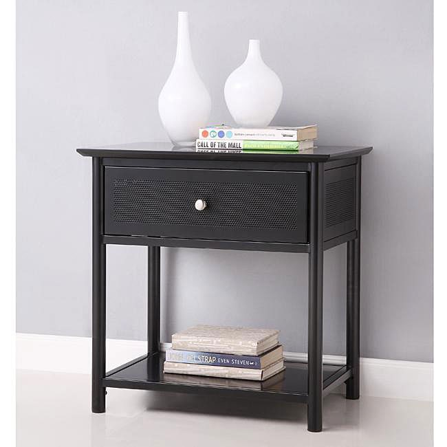 Elite Black Metal Nightstand Free Shipping Today